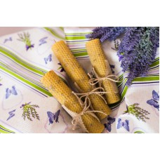 Свеча медовая из вощины с травами - ЛАВАНДА  65 гр