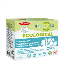 Стиральный порошок для белого белья с растительными энзимами, экологичный, 1,2 кг