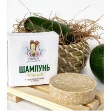 Шампунь для волос твердый с пудрой шикакай и какао для нормальной кожи головы 50 гр.